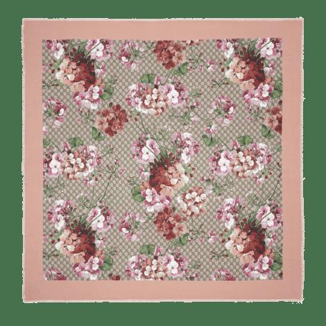 Blooms印花莫代尔真丝披肩