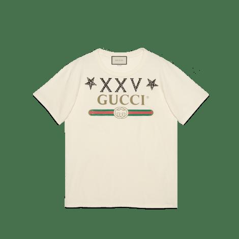 饰星星和Gucci标识超大造型T恤