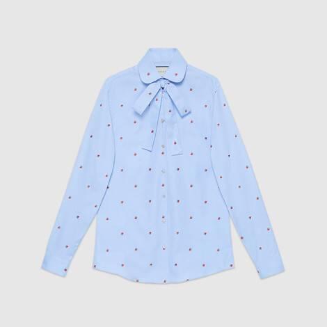 草莓切丝衬衫