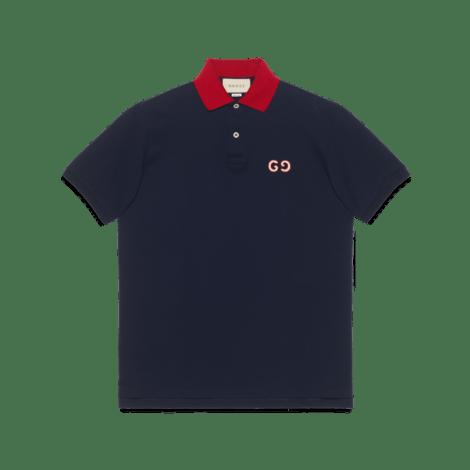 GG 刺绣 Polo 衫