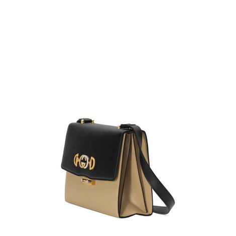 Gucci Zumi系列光面皮革小号肩背包