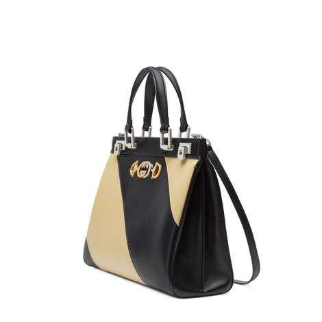 Gucci Zumi系列斜纹印花中号手提包