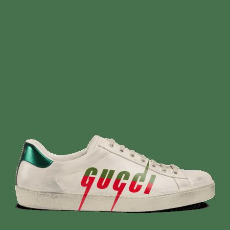 Ace 系列男士 Gucci 锋刃印花运动鞋