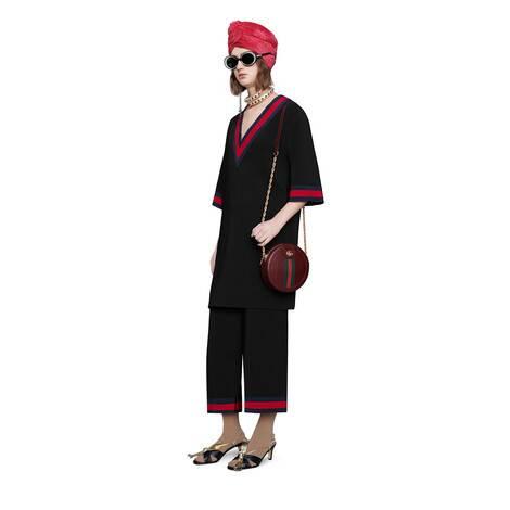 织带人造丝裙裤