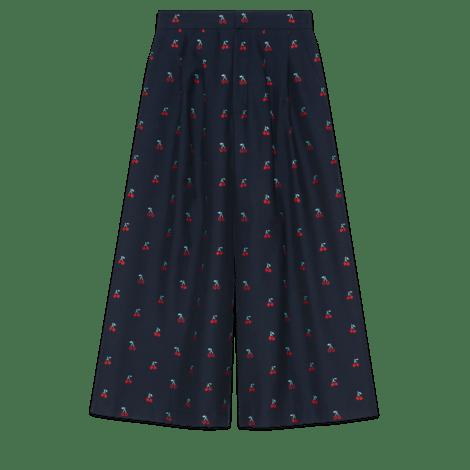 樱桃切丝羊毛裙裤