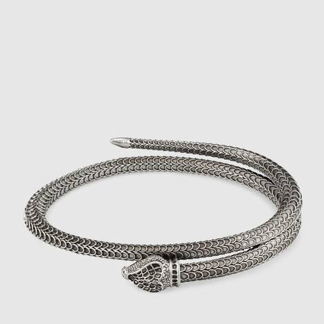Gucci Garden 系列纯银灵蛇造型手镯