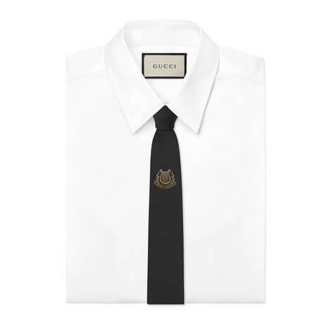 扭结下 Gucci Band 真丝领带