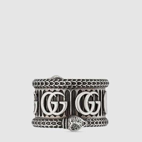 双 G 纯银戒指