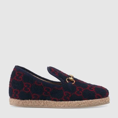 女士 GG 羊毛乐福鞋