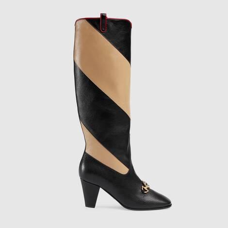 Gucci Zumi 系列斜纹及膝靴