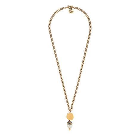 饰珍珠狮头项链