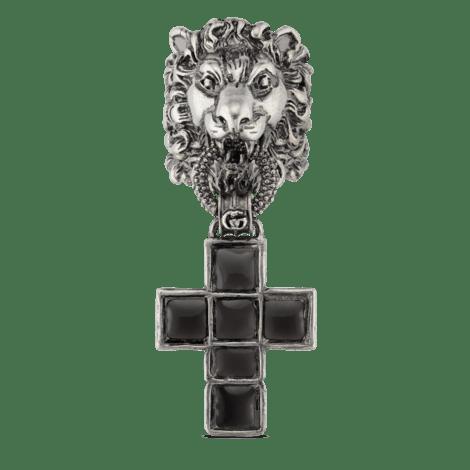 饰十字架吊坠狮头戒指
