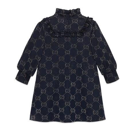 儿童 GG 金银丝线连衣裙