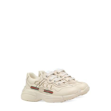 幼儿 Rhyton 系列 Gucci 标识皮革运动鞋