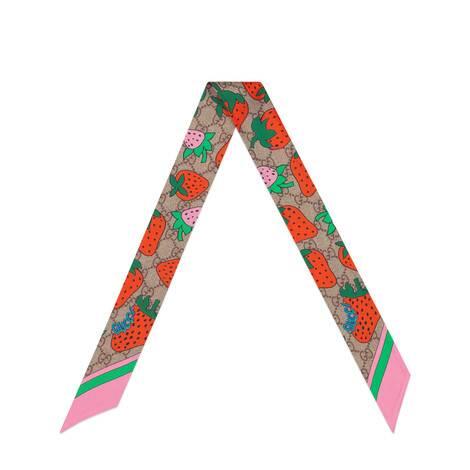 GG和Gucci草莓印花领结