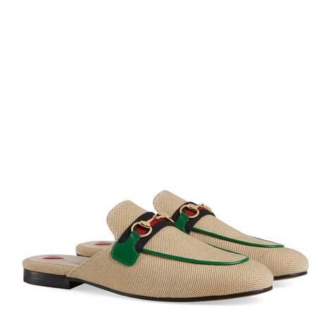 官网专享Princetown系列女士帆布拖鞋