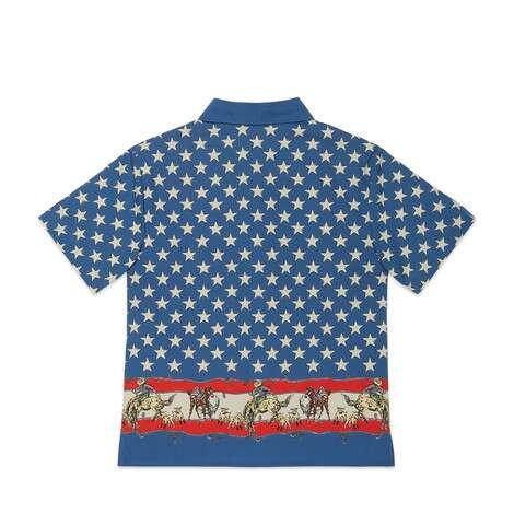 儿童印花府绸衬衫