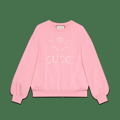 Gucci 网球印花超大造型卫衣