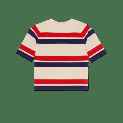 条纹羊毛上衣