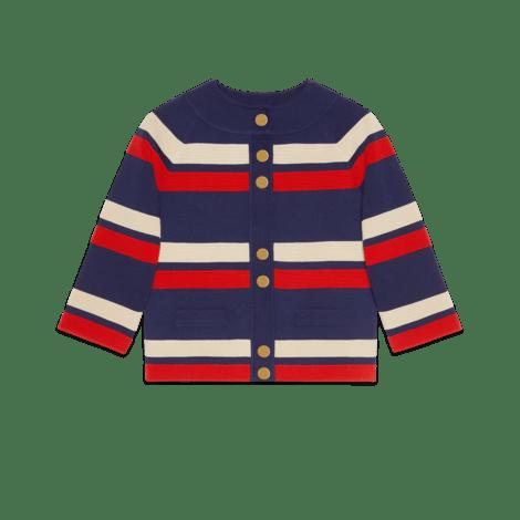 条纹羊毛开衫