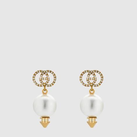 互扣式 G 珍珠耳环