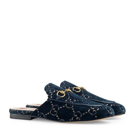 Princetown系列GG天鹅绒便鞋