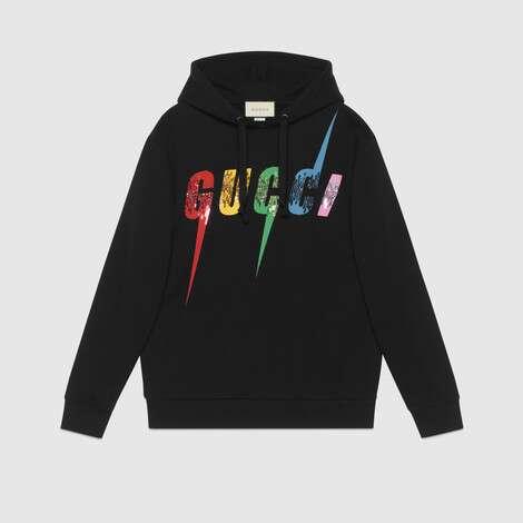 Gucci锋刃印花超大造型卫衣