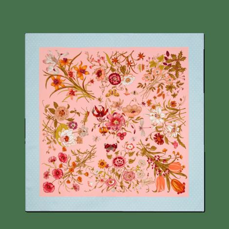 花卉印花真丝围巾