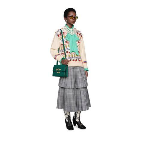 Gucci 菠萝和草莓图案针织上衣