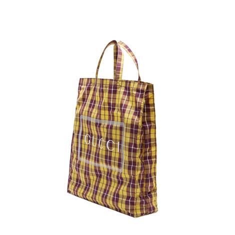 中号 Gucci 格纹印花购物袋