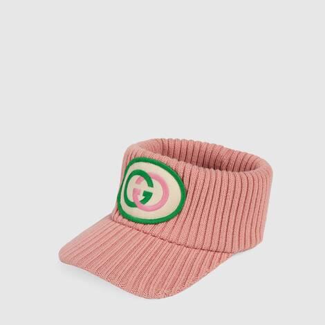 饰互扣式 G 贴饰羊毛遮阳帽