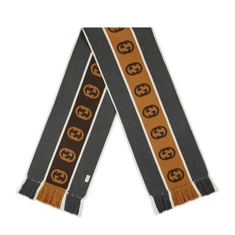 饰互扣式 G 条纹围巾
