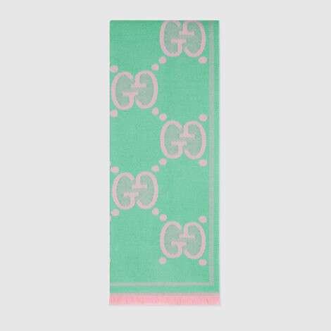 GG 羊毛提花围巾
