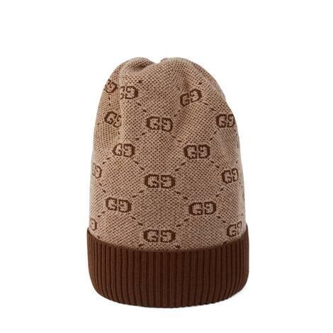 儿童 GG 棉毛混纺针织帽