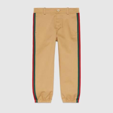 儿童贴饰华达呢长裤