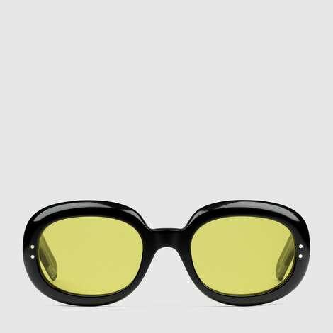 椭圆形镜框醋纤太阳眼镜