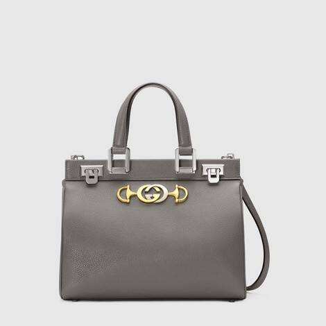 Gucci Zumi 系列粒面皮革小号手提包