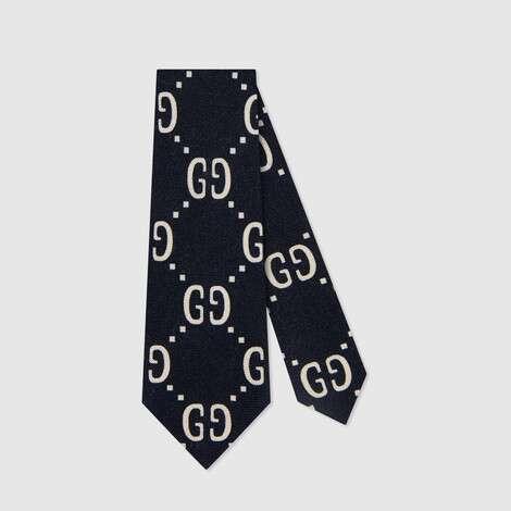 儿童GG羊毛真丝领带