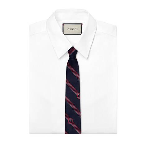 斜纹 G 真丝领带