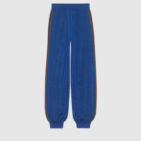 羊毛金银丝线慢跑长裤