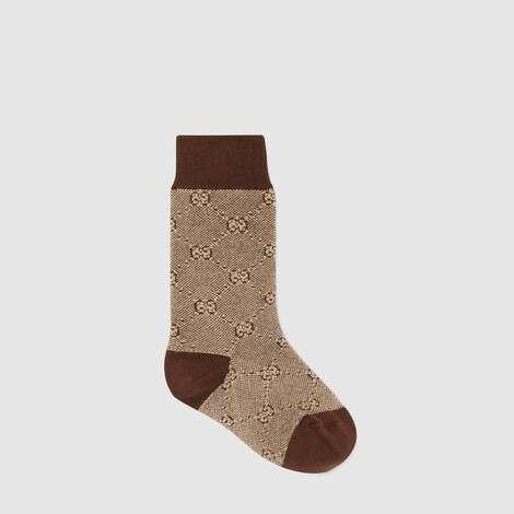儿童棉毛混纺 GG 短袜