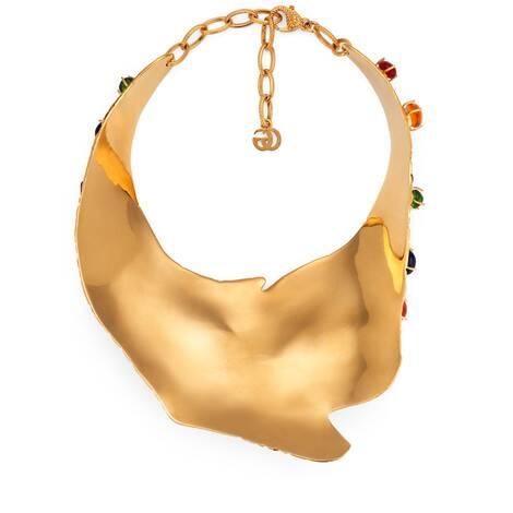 饰弧面宝石项链
