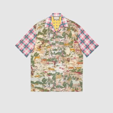 超大造型印花棉质保龄球衫