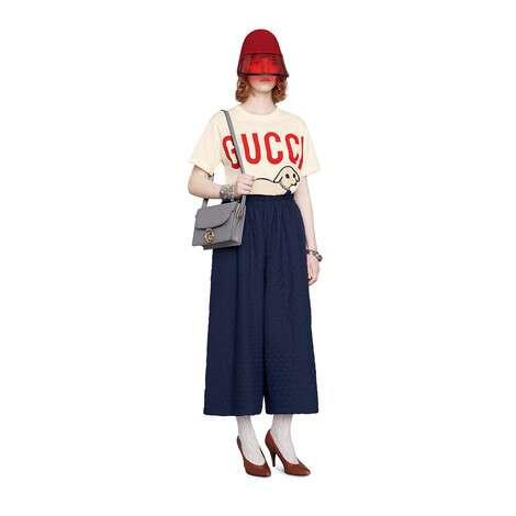 Gucci 小羊印花 T 恤
