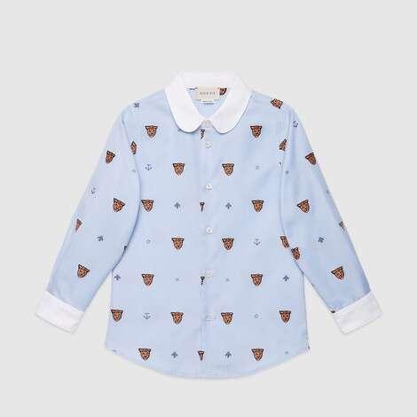 儿童经典符号图案切丝衬衫