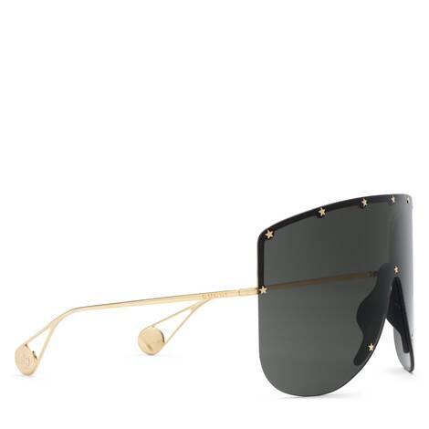 饰星形铆钉遮面太阳眼镜