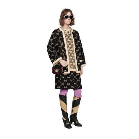 GG 条纹羊毛提花上衣