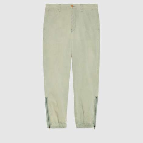 里拉琴刺绣棉质长裤