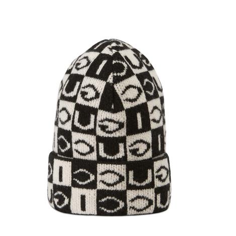 Gucci 棋盘格纹羊毛帽子