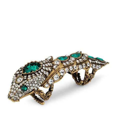 饰水晶灵蛇造型戒指